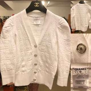 Chanel white cardigan size 34