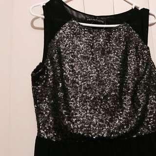 Make an offer! Beautiful Black Sequin Formal Maxi Dress/Gown