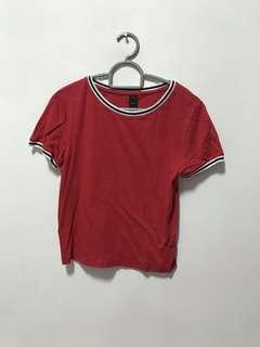 Factorie red ringer tee