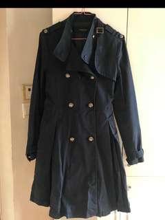 🈹️日本品牌Tasse Tasse Tokyo brand slim cut made in Korea navy blue Trench Coat
