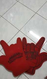 Spider man marvel hand stuff..