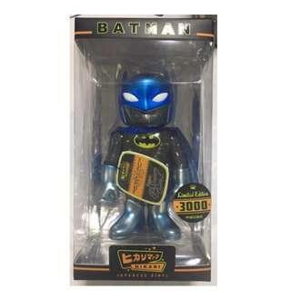 SUPERHERO BATMAN SILVER GLITTER, BLUE VERSION, TOY, FIGURINE, SUPER HERO COLLECTION FIGURINES