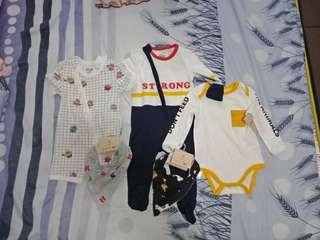 baby clothes and suits