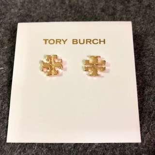 Tory Burch Earrings Logo Stud Earrings Gold 金色經典耳環