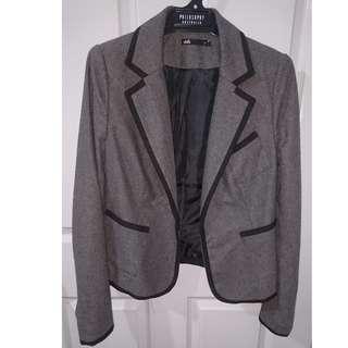 Dotti Grey Wool Blazer Size 8