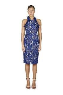 Cooper St Sky Beauty High Neck Midi Dress Size 6 BNWT