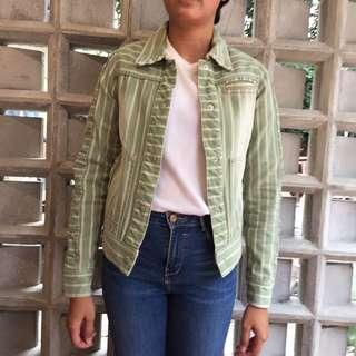 X SML Green Denim Jacket