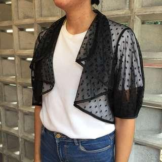 (X)SML Black Sheer Outer