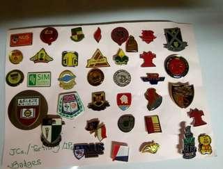 Precious JCs/Tertiary/IPs School Badges. NOT FOR SALE