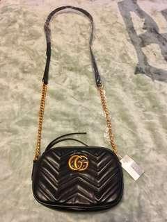 Black GG Long strap bag for sale