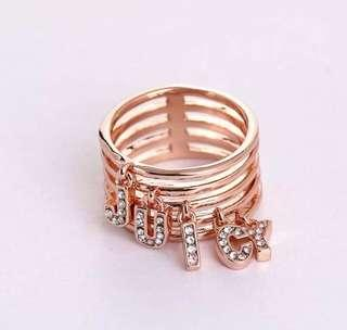 Juicy Couture Rosegold bling bling ring