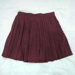H&M Divided Maroon Skater Skirt