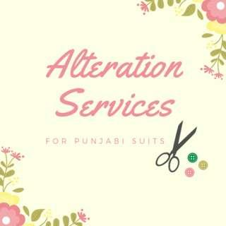 Punjabi Suit Alteration Services