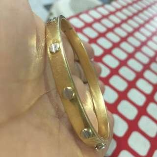 Pawnable Cartier Love Bangle (14k Gold) (Two Toned: Yellow Gold and White Gold)