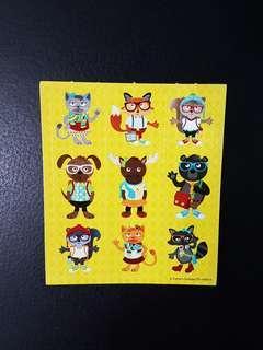 [INSTOCK] BN Small Hipster Animals Stickers (Carson Dellosa)