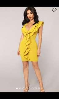 BRAND NEW - Yellow Party Dress - Size XL fits L