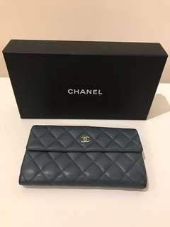 Chanel Wallet,100% real, 70% new 真皮長銀包