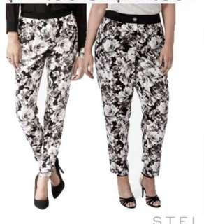 🚚 Forever21 floral print pants trousers