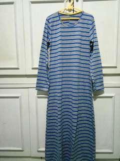 Maxi dress blue grey