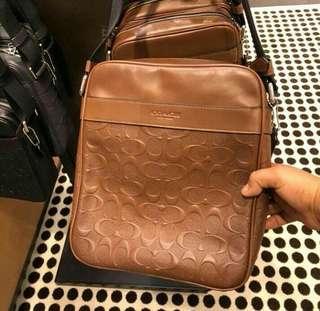Coach Flight Bag Debossed