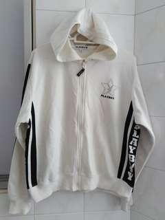 Play Boy White Hoodie jacket