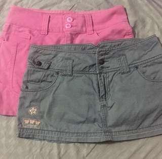 BUNDLE of Skirt and Palda Short
