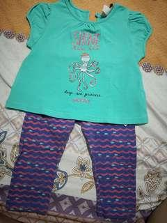 PONEY Babies Shirt and Leggings Set