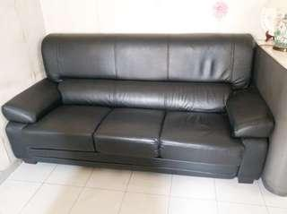 三座位真皮梳化 Leather sofa 3-seater