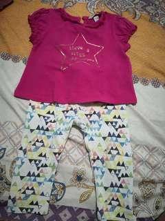 PONEY Shirt and Leggings Set