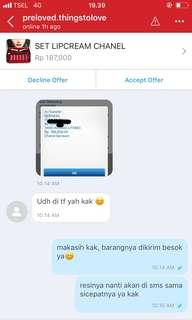Testimoni set lipcream chanel❤️
