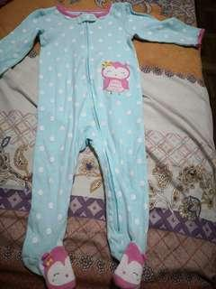 JUST ONE YOU Owl footed Sleepsuit