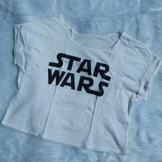 White Star Wars Crop Top