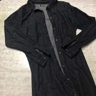 長版牛仔褸 denim jacket