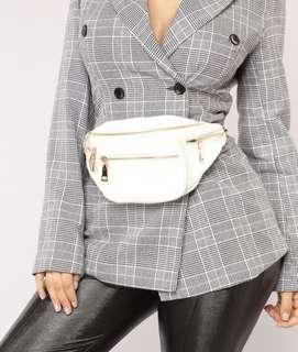 Brand New - White Faux Leather Fanny Pack