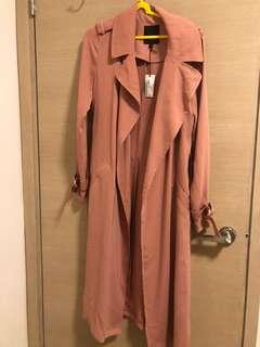 RIVER ISLAND stone red trench coat