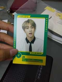 BTS 3RD Muster JIN Player Card