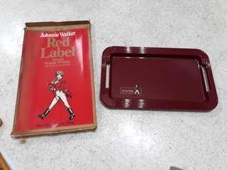 vintage Johnnie Walker Red Label tray