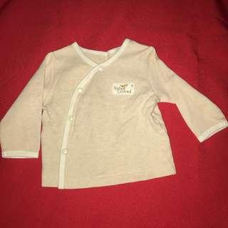 Nature Colored natural color organic cardigan - no dyes 3-6 months
