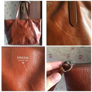 Fossil sidney shopeer brown