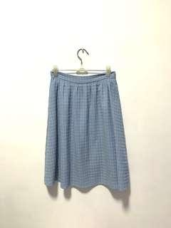 MDS blue midi skirt