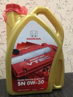 Honda Genuine Engine Oil OW-30 ORI ( minyak hitam)