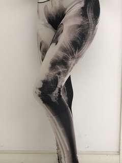 Blackmilk X-ray skeleton leggings 緊身褲