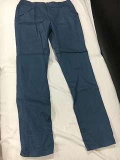 Petite unique fold up blue jeans