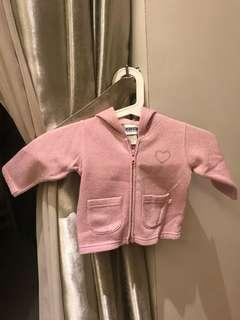 Girl's sparkling pink hooded jacket