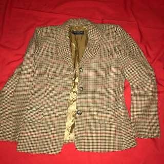 Max Mara Weekend Vintage Houndstooth Wool Jacket
