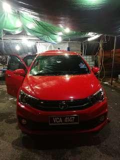 Perodua Bezza utk di sewa area shah alam kl