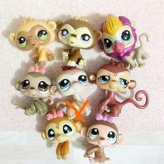 Littlest pet shop lps chimpanzees and monkeys (babies too!)