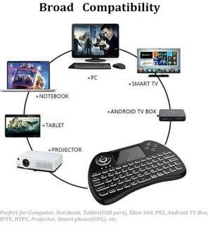 Rechargeable QWERTY Keyboard with Touchpad