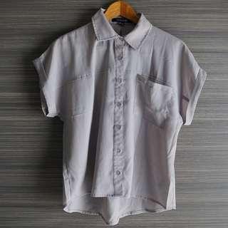 Forever 21 Grey Short Sleeve Top