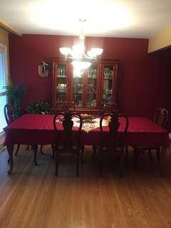 dining room table plus cabinet